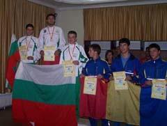 Награждаване М18 – Средна – 1. Станимир Беломъжев, 2. Иван Сираков, 3. Веско Минев