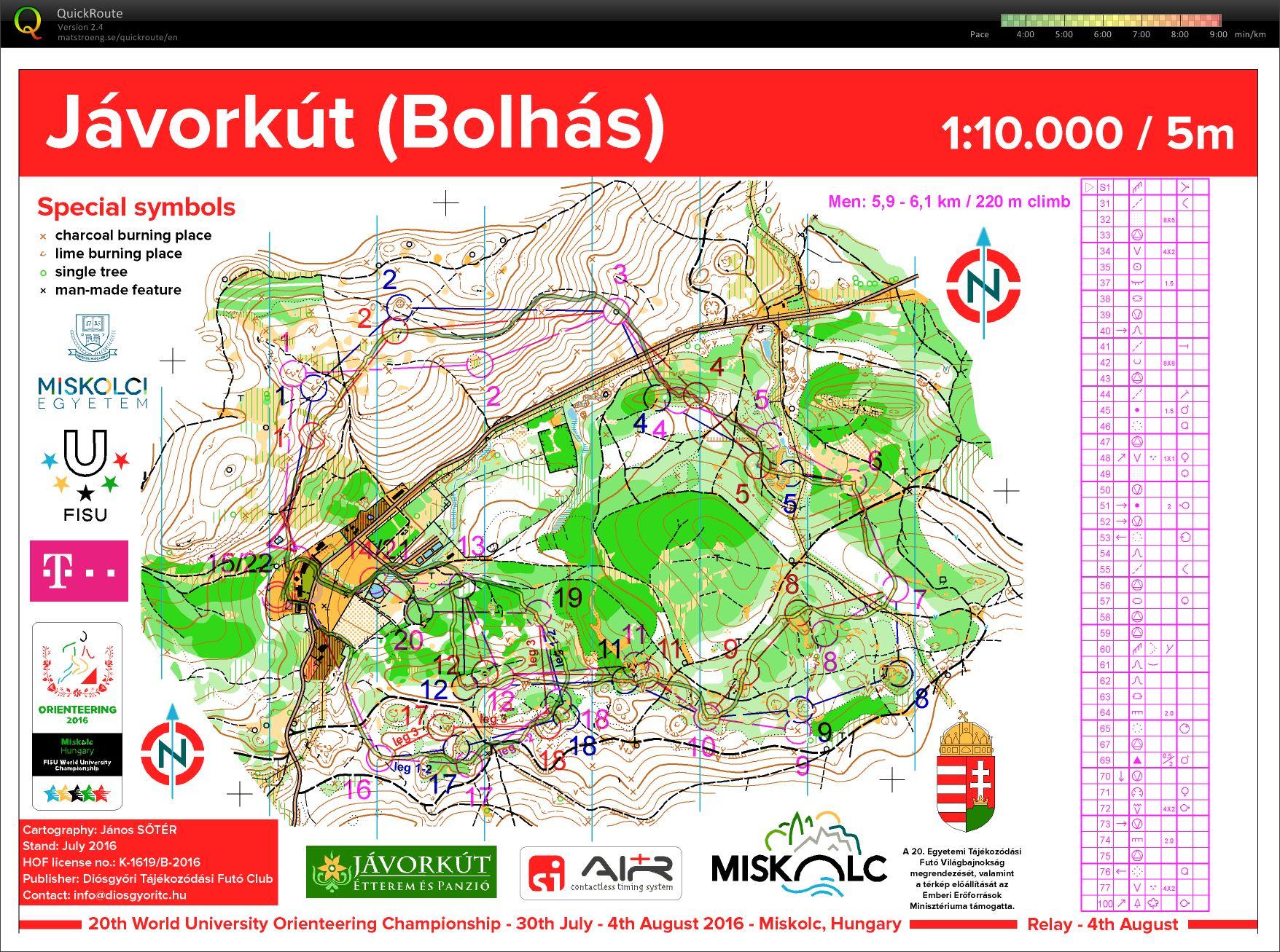 IvanSirakovcom Maps WUOC 2016 Relay 04082016