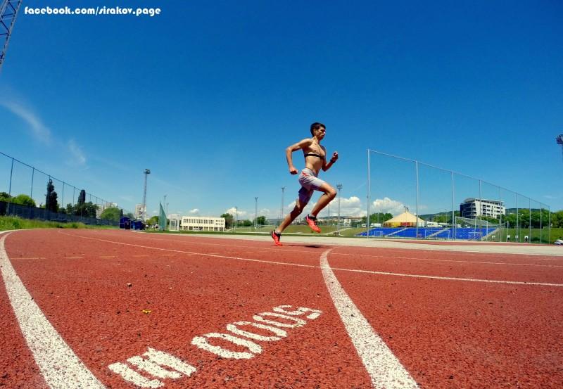 5000 м на писта - 15:43