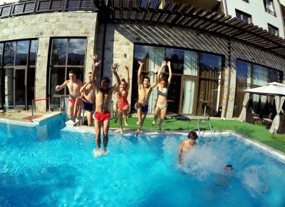SEEOC BG Team having fun in the pool