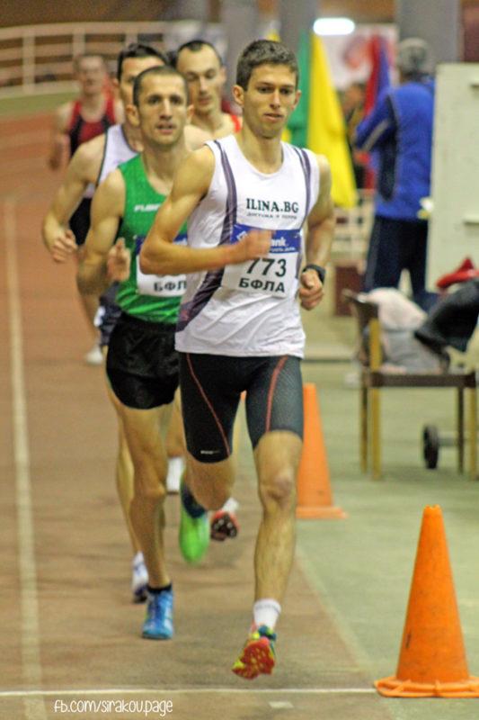 По време на националния шампионат по лека атлетика в зала - 3000 м